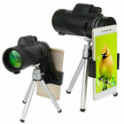 US 40X60 Zoom Optical HD Lens Monocular Telescope+Tripod+Clip For Smart Phones