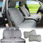 PU Leather W Suede Full Car Seat Covers Cushion Front/Rear for Dodge A $94.95 USD on eBay
