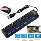 USB 2.0 4 Port 7 Port Multi Charger Hub High Speed Adapter Switch Laptop PC