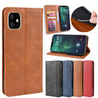 Magnetic Leather Flip Wallet Credit Card Slot Pocket Phone Case Protection Cover