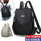 Women Lady Backpack Purse Anti-Theft Rucksack Waterproof Oxford Cloth School Bag image
