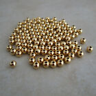 smooth gold plated beads 3mm round
