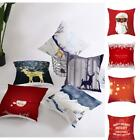 Christmas Classic Retro Style Printed Decorative Throw Cushion Cover KFBY