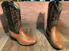 Men's Brown Circle G by Corral Full quill ostrich western boots.