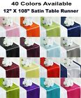 "10 Satin Table Runners Sash Wedding Party Banquet Decoration 12""X108"" -Free Ship"