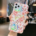 Laser Plating Banana Leaf Colorful Flower Case iPhone 11 11Pro Max X XS XR 7 8