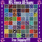 "NFL Fleece Fabric All Teams Sports Collection - 60"" Wide - Sold by The 1/2 Yard! $16.95 USD on eBay"