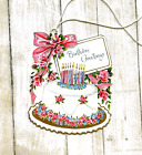 Hang Tags RETRO BIRTHDAY GREETINGS CAKE TAGS 309 Gift Tags