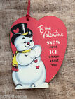 Hang Tags RETRO SNOWMAN ITS SNOW JOKE VALENTINE TAGS 249 Gift Tags