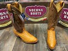 Men's vintage cognac Full Quill ostrich western boots by Nocona Boot.