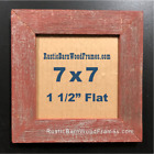 """7x7"""" F barnwood primitive rustic barn recycled picture frame distressed old wood"""