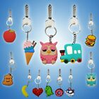 FOR CAR HOUSE CUTE PRETTY PRINTS KEYRING TAG KIDS DESIGN FUNNY SMILEY EMOJI FACE