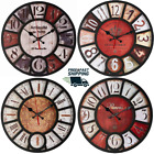 14 Inch Retro style Wall clock room Non ticking Decorative wall clock Battery