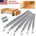 "10""-20"" Soft Close Full Extension Drawer Slides Ball Bearing Side or Rear Mount $13.99 USD on eBay"