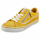 Mustang Low Top Side Zip Womens Yellow Synthetic Fashion Trainers