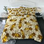 BlessLiving 3 Piece Insect Comforter Set with Pillow Shams – Honey Bees 3D Print image
