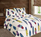 3 Piece Dream Catcher Quilt Set Western Bedspread Comforter Bedding - Off-White image
