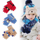 US Kids Gloves  Mittens Knitted Winter Warm Full Finger Gloves For Girls Boys