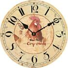 Retro Antique Style Rooster Wall Clock,  Home Kitchen Room Decor