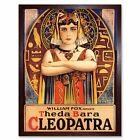 Film Movie Theda Bara Cleopatra Egyptian Fox 12X16 Inch Framed Art Print