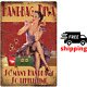 Vintage Handbag Diva pin-up sexy girls retro style man cave tin metal sign photo