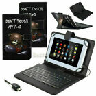 """US Pattern Leather Case Cover Micro USB Keyboard For ACER 7"""" 8"""" 9.6"""" 10"""" Tablet"""