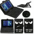 "US Pattern Leather Case Cover Micro USB Keyboard For ACER 7"" 8"" 9.6"" 10"" Tablet"