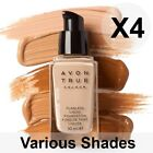 Avon True Flawless Liquid Foundation SPF15 - 30ml X4 Bottles (Various Shades)
