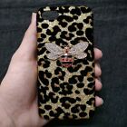 3D Bling Deluxe Shiny Leopard Rhinestone Bee Back Hard Case Cover for Phones