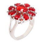 Women Ladies Jewelry Ruby Ring New Charm 4Sizes Gift Personality Full Diamond