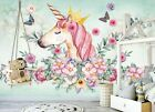 3D Pink Unicorn B384 Business Wallpaper Wall Mural Self-adhesive Commerce Amy