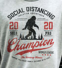 """Social Distancing Champion 2020"" Sasquatch T-shirt in Adult + Kid Sizes image"
