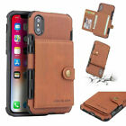 For Iphone 11 Pro Max Xs Xr X 7 8 Leather Card Slot Bag Wallet Holder Case Cover