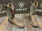 Men's Arena Rebound square toe western boot by Ariat. Toffee crunch/wild turquoi