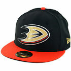 New Era 59Fifty Anaheim Mighty Ducks Fitted Hat Black Orange Mens NHL Cap