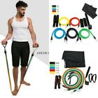 Resistance Band Fitness Set Yoga Pilates Abs Exercise Tube Workout Bands Set image