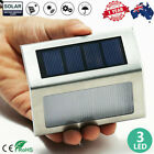 1/4/8pcs Outdoor Solar Led Deck Garden Stair Step Fence Lights Wall Pathway Lamp