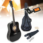 """CHOICE Johnny Brook 41"""" Acoustic Guitar Kit with Bag Tuner Strings Picks Strap"""