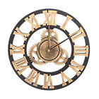 Retro Big 3D Wheel Wall Clock Steampunk Industrial Time Keeper Gear Decor