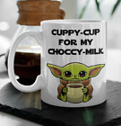 BABY YODA COFFEE mug Cuppy cup for my choccy milk, The Mandalorian Star Wars cup $14.95 USD on eBay