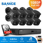 SANNCE 5in1 1080P HDMI 8CH /4CH DVR HD 1080P Outdoor CCTV Security Camera System