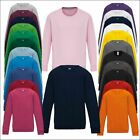 New Kids AWDis sweatshirt Boys Girls Classic Pullover Jumper Casual Leisure Tops