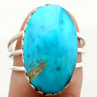 Natural Botryoidal Chrysocolla 925 Sterling Silver Ring Jewelry s.7.5 SDR70185