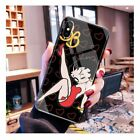 Betty Boop Retro design Tempered Glass case iPhone 6 6S 7 8 + X XS XR 11 Pro Max $9.95 USD on eBay