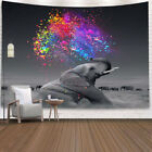 Elephant Tapestry Colorful  Wall Hanging Hippie Print Bedspread Throw Home Deco