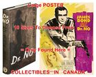 "DR. NO 1958 1st Ed. JAMES BOND French=BOOK & 1962 MOVIE POSTER 10Sizes 14""-4.5FT $32.88 CAD on eBay"