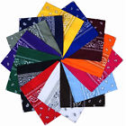 Unisex 100 Cotton Dacron Paisley Bandanas Double Sided Head Wrap Scarf Hot