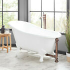 "Signature Hardware 54"" Emma Cast Iron Slipper Clawfoot Bathtub Imperial Feet"