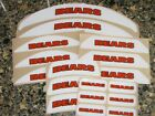 CHICAGO BEARS Bumper Football Helmet Decal Set Qty (1) Set 3M 20MIL $6.99 USD on eBay