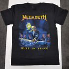 New Megadeth - Rust In Peace T-shirt Band Concert Cotton Reprint S-4XL image